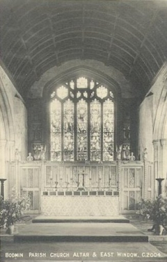 Bodmin Parish Church Altar and East Window