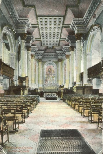 Interior of St. Phillip's cathedral in 1837