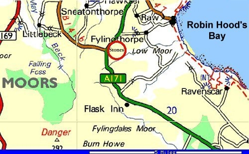 Local Map of Ramsdale Standing Stones